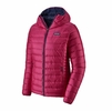 Patagonia Womens Down Sweater Hoody Crafy Pink w/ Classic Navy (Close Out)
