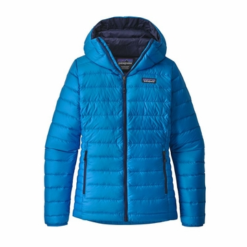 Patagonia Womens Down Sweater Hoody Lapiz Blue