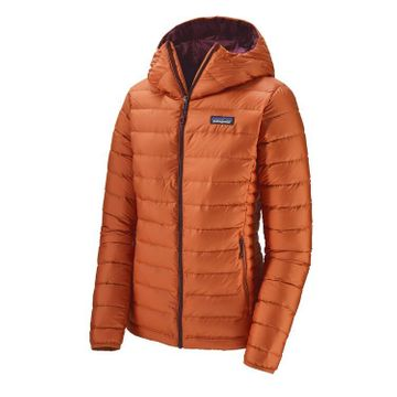 Patagonia Womens Down Sweater Hoody Sunset Orange (Close Out)