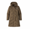 Patagonia Womens Down With It Parka Topsoil Brown