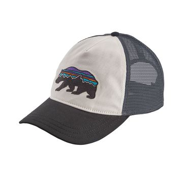 Patagonia Womens Fitz Roy Bear Layback Trucker Hat White w/ Black (Close Out)