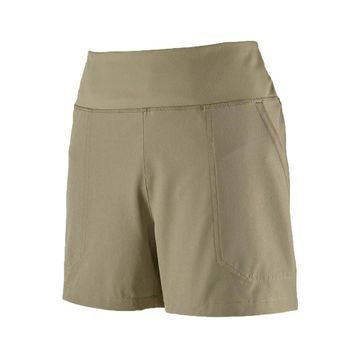 Patagonia Womens Happy Hike Shorts 4in Shale
