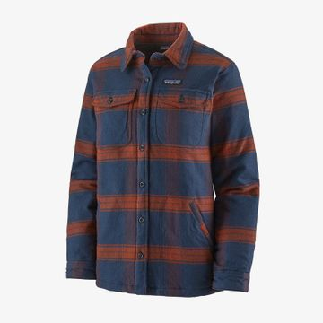 Patagonia Womens Insulated Fjord Flannel Jacket Burlwood: New Navy (Close Out)
