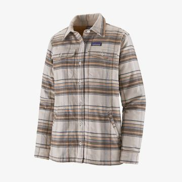 Patagonia Womens Insulated Fjord Flannel Jacket Cabin Time: Birch White (Close Out)
