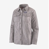 Patagonia Womens Insulated Fjord Flannel Jacket Jaspe Twist: Furry Taupe (Close Out)
