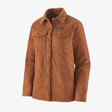 Patagonia Womens Insulated Fjord Flannel Jacket Jaspe Twist: Wood Brown (Close Out)