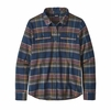 Patagonia Womens L/S Fjord Flannel Shirt Cabin Time: Stone Blue (Close Out)