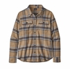 Patagonia Womens L/S Fjord Flannel Shirt Cabin Time: Stone Blue