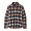 Patagonia Womens L/S Fjord Flannel Shirt Upriver: Century Pink (Close Out)