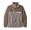 Patagonia Womens Lightweight Synch Snap-T Fleece Pullover Furry Taupe