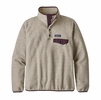 Patagonia Womens Lightweight Synch Snap-T Fleece Pullover Oatmeal Heather w/ Deep Plum (Close Out)