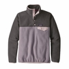 Patagonia Womens Lightweight Synch Snap-T Fleece Pullover Smokey Violet