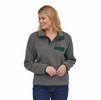 Patagonia Womens Lightweight Synch Snap-T Pullover Nickel w/ Northern Green