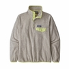 Patagonia Womens Lightweight Synch Snap-T Pullover Oatmeal Heather w/ Jellyfish Yellow
