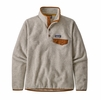 Patagonia Womens Lightweight Synch Snap-T Pullover Oatmeal Heather w/ Wood Brown