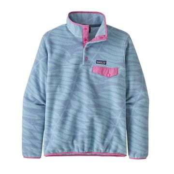 Patagonia Womens Lightweight Synchilla Snap-T Fleece Pullover Eucalyptus Fronds: Berlin Blue (Close Out)