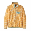 Patagonia Womens Lightweight Synchilla Snap-T Fleece Pullover Eucalyptus Fronds: Vela Peach (Close Out)