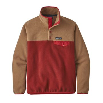 Patagonia Womens Lightweight Synch Snap-T Fleece Pullover Molten Lava