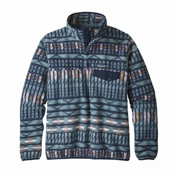 Patagonia Womens Lightweight Synch Snap-T Fleece Pullover Kuta Klash: Shadow Blue