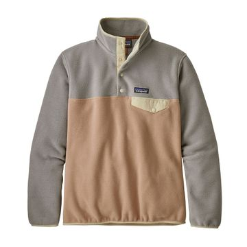 Patagonia Womens Lightweight Synch Snap-T Fleece Pullover Rosewater