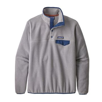 Patagonia Womens Lightweight Synch Snap-T Fleece Pullover Feather Grey