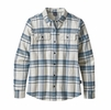 Patagonia Womens Long Sleeve Fjord Flannel Activist Big: Birch White (close out)