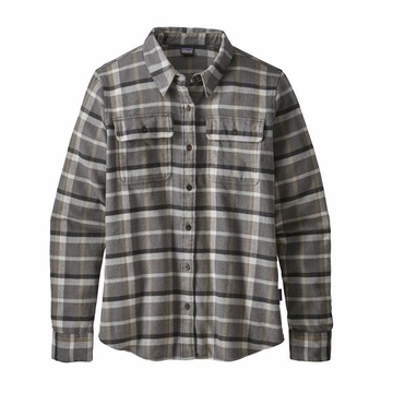 Patagonia Womens Long Sleeve Fjord Flannel Rebel: Forge Grey (close out)