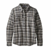 Patagonia Womens Long Sleeve Fjord Flannel Rebel: Forge Grey