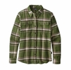 Patagonia Womens Long Sleeve Fjord Flannel Shirt Activist Big: Nomad Green