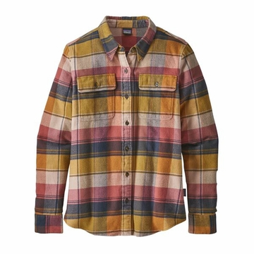Patagonia Womens Long Sleeve Fjord Flannel Shirt Spectra: Kiln Pink (close out)