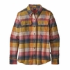 Patagonia Womens Long Sleeve Fjord Flannel Shirt Spectra: Kiln Pink