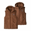 Patagonia Womens Los Gatos Hooded Vest Moccasin Brown  (close out)