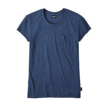 Patagonia Womens Mainstay Tee Stone Blue (Close Out)
