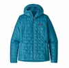 Patagonia Womens Nano Puff Hoody Mako Blue (Close Out)