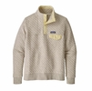Patagonia Womens Orangic Cotton Quilt Snap-T Pullover Birch White w/ Resin Yellow (Close Out)