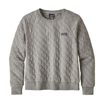 Patagonia Womens Organic Cotton Quilt Crew Drifter Grey