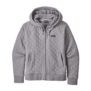 Patagonia Womens Organic Cotton Quilt Hoody Drifter Grey