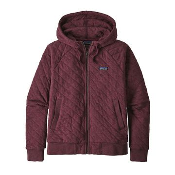 Patagonia Womens Organic Cotton Quilt Hoody Light Balsamic (Close Out)