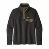 Patagonia Womens Organic Cotton Quilt Snap-T Pullover Black