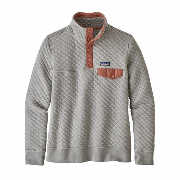 Patagonia Womens Organic Cotton Quilt Snap-T Pullover Drifter Grey (close out)