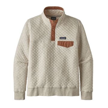 Patagonia Womens Organic Cotton Quilt Snap-T Pullover Dyno White (Close Out)