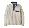 Patagonia Womens Organic Cotton Quilt Snap-T Pullover Pelican w/ Stone Blue