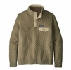 Patagonia Womens Organic Cotton Quilt Snap-T Pullover Sage Khaki