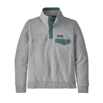 Patagonia Womens Organic Cotton Quilt Snap-T Pullover Salt Grey