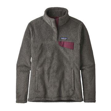 Patagonia Womens Re-Tool Snap-T Fleece Pullover Feather Grey/ Ink Black X-Dye w/ Light Balsamic (Close Out)