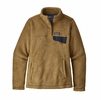 Patagonia Womens Re-Tool Snap-T Fleece Pullover Kastanos Brown: Biscuit X-Dye  (close out)