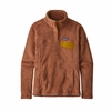 Patagonia Womens Re-Tool Snap-T Fleece Pullover Sisu Brown/ Century Pink X-Dye (Close Out)