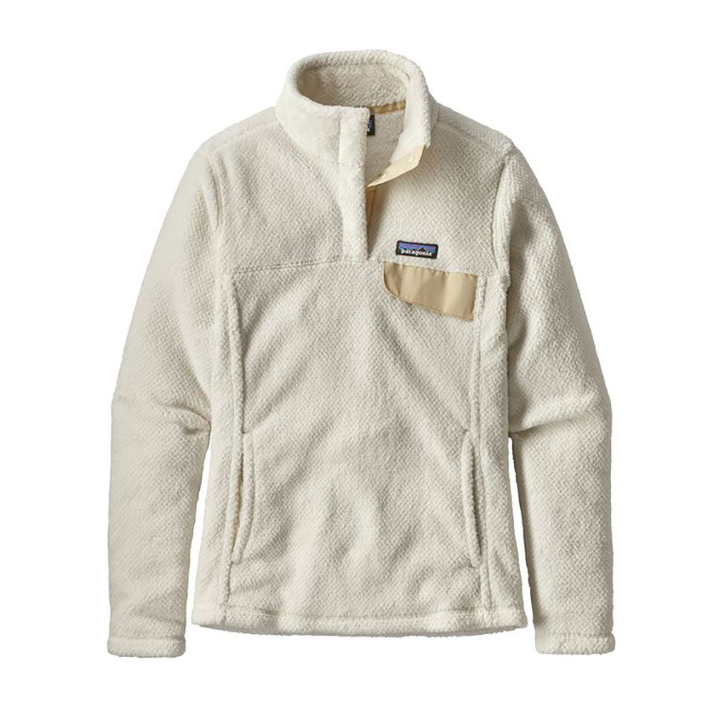 Patagonia Womens Re Tool Snap T Fleece Pullover Raw Linen