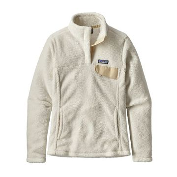 Patagonia Womens Re-Tool Snap-T Fleece Pullover Raw Linen/ White X-Dye