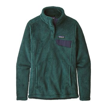 Patagonia Womens Re-Tool Snap-T Fleece Pullover Piki Green/ Dark Piki Green X-Dye (Close Out)